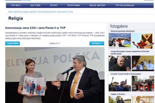 Pagina web di Telewizja Polska